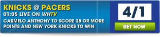 New York Knicks @ Indiana Pacers - Click here for all betting