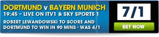 UEFA Champions League Final - Dortmund v Bayern - Click here for all betting