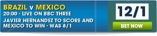 View our full range of Brazil v Mexico betting