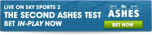 View our full range of Second Ashes Test betting