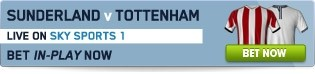 Click to bet In-Play on Sunderland v Tottenham