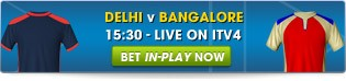 Click here to bet LIVE on Delhi v Bangalore