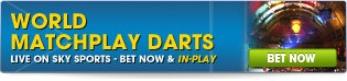Bet Now on a wide range of World Matchplay markets