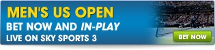 Bet Now and In-Play on the Mens US Open