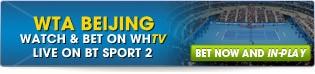 Bet now on WTA Beijing