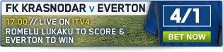 Bet now on FK Krasnodar v Everton