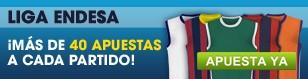 ¡Más de 40 apuestas a cada partido de la Liga Endesa!
