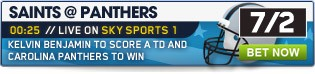 Bet now on Saints @ Panthers