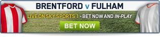 Brentford v Fulham - Click for all betting