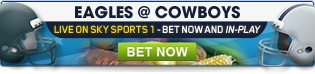 Bet on our wide range of live Thanksgiving NFL markets