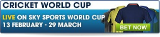Bet now on tonight's Cricket World Cup Games