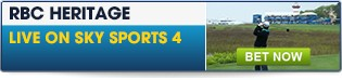 Click for live in-play betting for the RBC Heritage