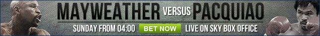 View our full range of Mayweather v Pacquiao betting
