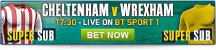 Bet now on Cheltenham v Wrexham