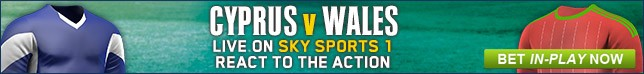 Bet now on Cyprus v Wales