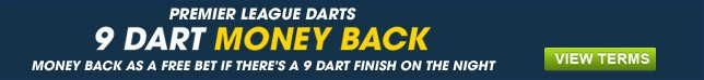 Money back as a free bet if theres a 9 dart finish