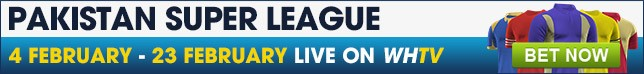 Bet now on the Pakistan Super League live on WHTV