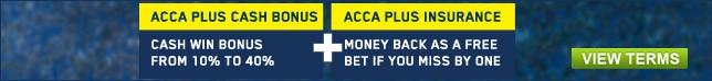 Get your acca bonus now