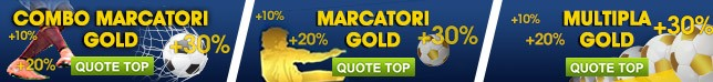 Quote TOP| Multipla/ Marcatori Gold e Combo Marcatori Gold