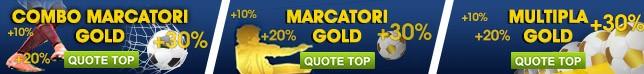 Quote TOP| Multipla/ Marcatori Gold e Combo Marcatori Gold