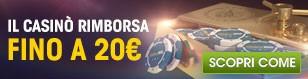 Mega rimborso del 50% fino a 20€!