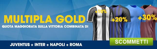 Quote Maggiorate | Juventus + Inter + Napoli + Roma