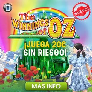¡20€ Sin Riesgo en Winnings of Oz!