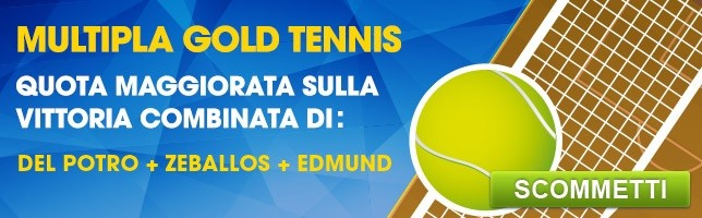 Multipla Gold Tennis | Quota Maggiorata