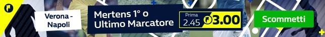Quota TOP | Mertens 1° o Ultimo Marcatore