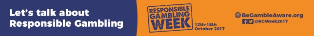 Responsible Gambling Week 12th October - 18th October