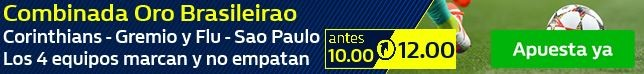¡Apuesta a la Combinada Oro del Brasileirao!