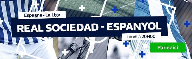 Real Sociedad ₋ Espanyol - Toutes les Cotes!