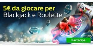 5€ da giocare su Blackjack Roulette