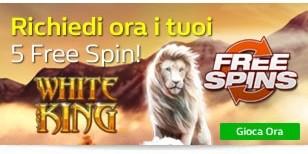 5 Free Spin  per White King