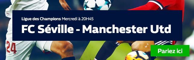 FC Séville ₋ Manchester Utd - Toutes les Cotes