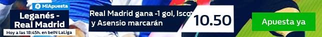 Leganés ₋ Real Madrid - Apuestas