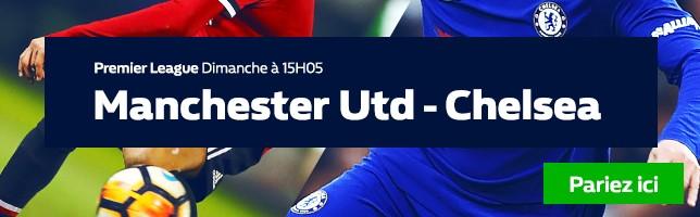 Manchester Utd ₋ Chelsea - Toutes les Cotes