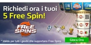 Ricevi 5 free spin