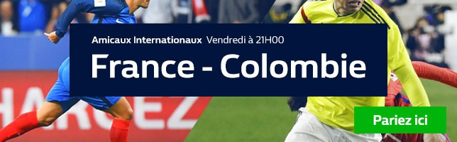 France ₋ Colombie - Toutes les Cotes