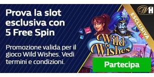 5 Free Spin in regalo per Wild Wishes