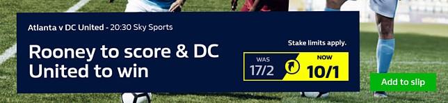 Atlanta v DC United - Rooney to score & DC United to win 10/1