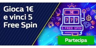 Gioca 1€ e vinci 5 Free Spin!