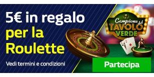 5€ Bonus Premium European Roulette