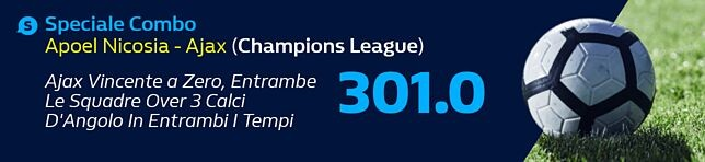 Speciali Combo Apoel Nicosia - Ajax  (Champions League)