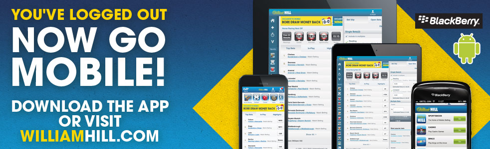 Get William Hill on your mobile banner