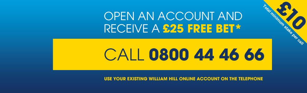 New account offer Telebetting Banner