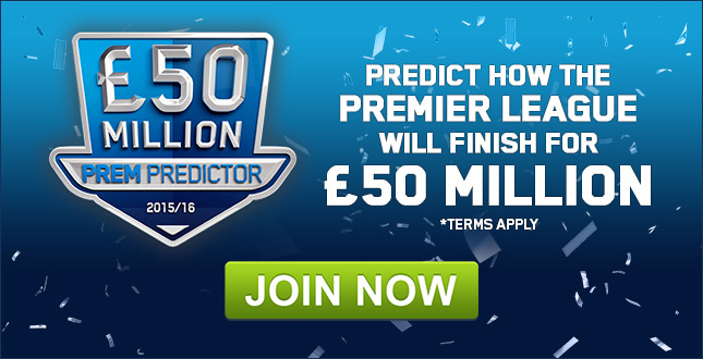 50 Million Prem Predictor betting | Football Specials odds