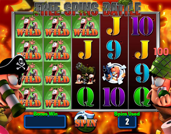 worms video slot