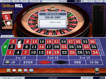 william hill online roulette